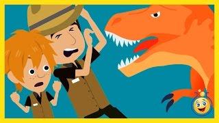 Dinosaurs Cartoon for Kids! Giant T-Rex Chases Park Ranger Aaron & LB in Fun Kids Jurassic Adventure