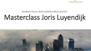 Masterclass Joris Luyendijk bij Academic Forum