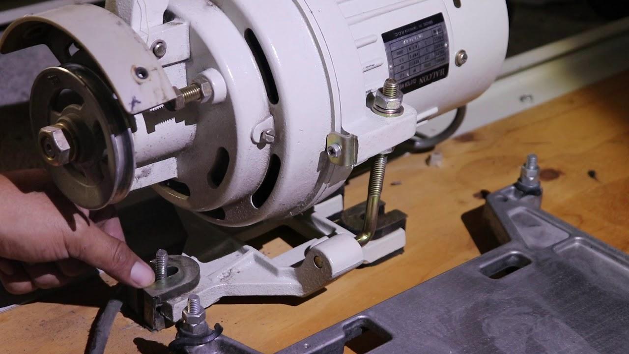Como quitar el motor de una máquina de coser industrial
