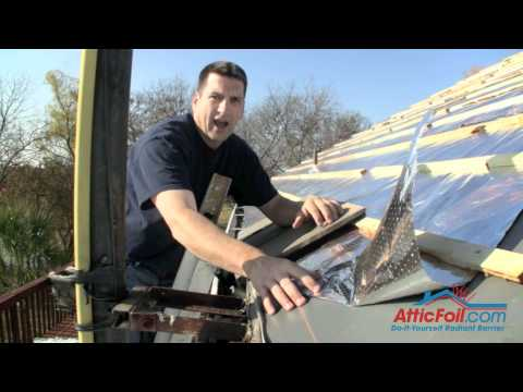 Metal Roofing And Radiant Barrier Foil Insulation