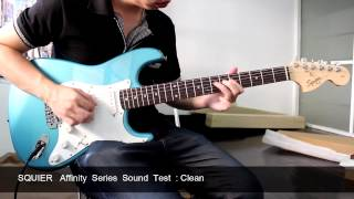 Squier Affinity Stratocaster  Sound test