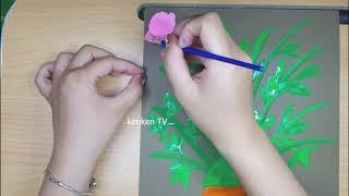 Vẽ hoa tặng mẹ, tặng mẹ 20/10, vẽ hoa- drawing flowers for mom