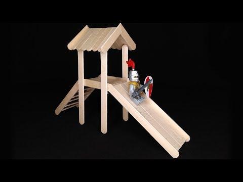 Kids Slide Popsicle stick crafts DIY ideas