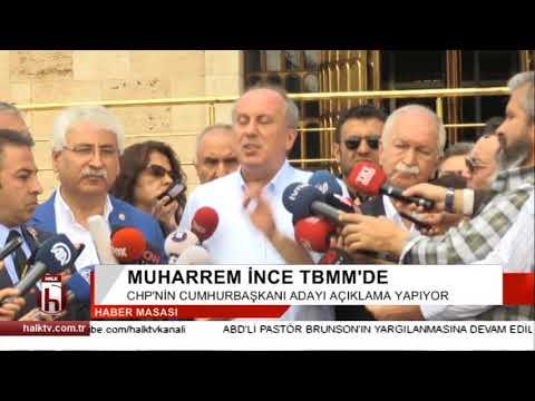 Muharrem İnce TV kanallarını protesto etti açıklamayı iptal etti, Erdoğan bitince geldi
