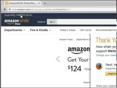 Amazon Smile Program for Wells Of Life