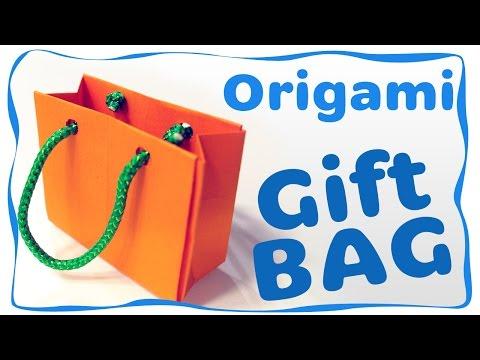 How to make an Origami Gift Bag (NO glue)