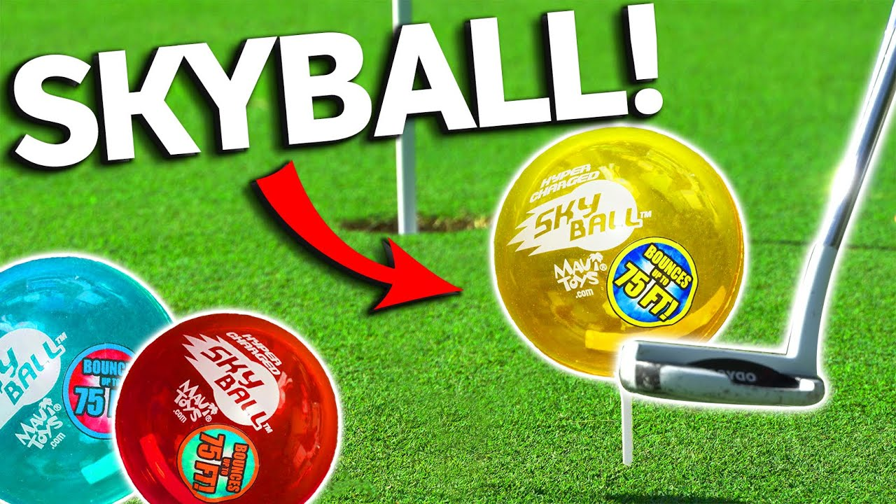 Golfing With The Worlds Bounciest Ball | 1V1 Matt vs.Steve SKYBALL 75ft