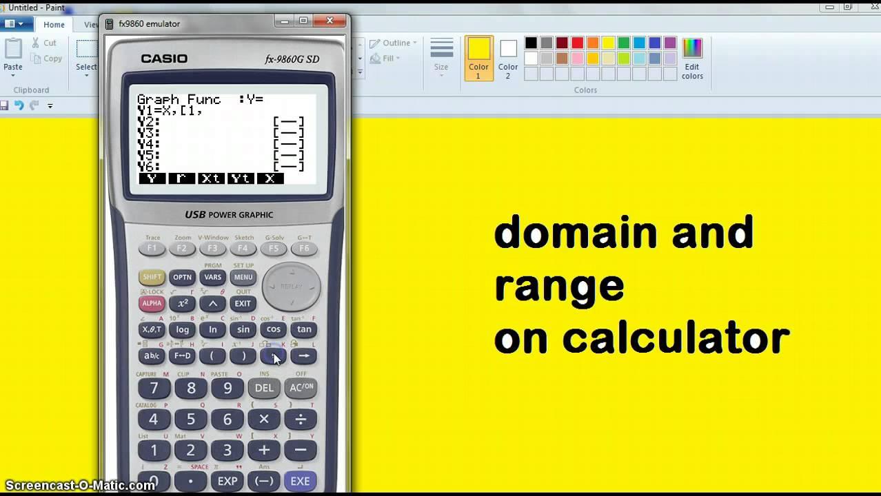 Domain and range finder calculator