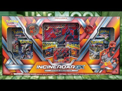 Opening an Incineroar GX Premium Collection Box of Pokemon Cards!