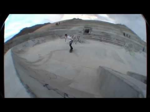 Dustin Nicholas Mallory gaping the Piedras ditch drain.
