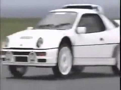 Top Gear Jeremy Clarkson crashes a RS200 ford
