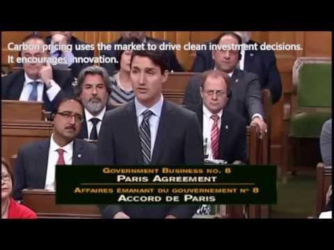 Canada's Prime Minsiter Justin Trudeau Speech on Climate Change