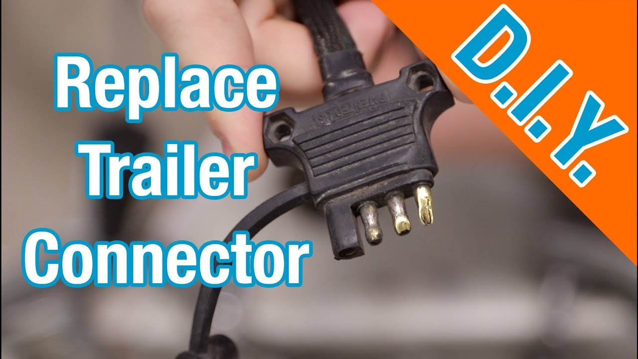 How To Repair Or Replace 4-wire Flat Trailer Wiring Connector Harness