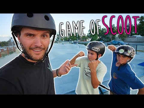 RAYMOND WARNER VS SCOOTER KIDS GAME OF SCOOT!