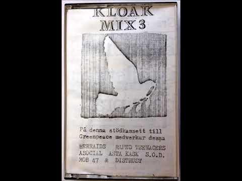 Kloak Mix 3  –  Compilation Tape  -  Svensk Punk  (1985)