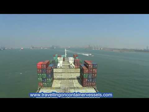 Entering the port of Tianjin