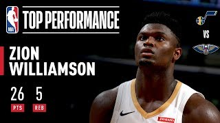 Zion Dropped 26 PTS in Preseason Home Opener