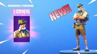 *NEW* LUDWIG SKIN & HEIDI SKIN! (Item Shop) Fortnite Battle Royale!