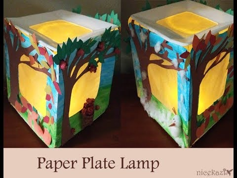 How to make paper plates lamp: Making lamp using paper plates, paper craft, kids craft, easy craft