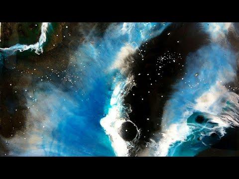 Nebula - Galaxy art by epoxy resin on canvas