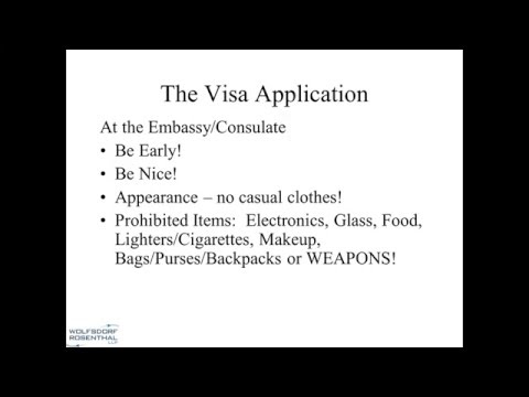 Inside the Visa Interview:  The U.S.  Consular Visa Process 3/4/2016