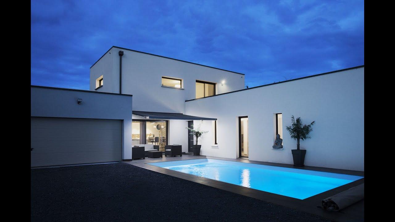 Maison Contemporaine neuve avec piscine  YouTube