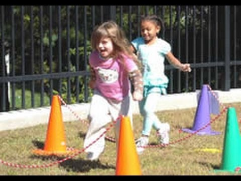 Using An Obstacle Course To Promote Active Outdoor Play