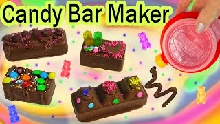 CHOCOLATE CANDY BAR Maker Kit Set REAL FOOD Sprinkles Cookie Dough Gummy Bears Baker Moose Toys thumbnail