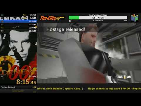 GoldenEye N64 Secret Agent Speedrun 30:57 (WR) By Marc Rützou