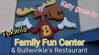 Katy goes to Family Fun Center to play arcades and crane machine to win prizes! Indoor & outdoor fun