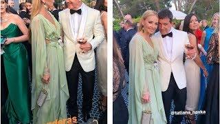 Жена Пескова Татьяна Навка очаровала откровенным нарядом Антонио Бандераса в Каннах - кадры