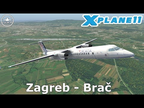 X Plane 11 Livestream | Zagreb (LDZA) - Brač (LDSB) | Croatia 640 | IVAO