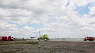 Первый рейс авиакомпании S7 приземлился в саратовском аэропорту
