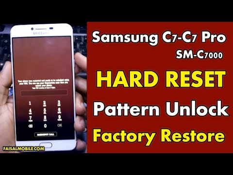 How To Hard Reset Samsung Galaxy C7 & C7 Pro Remove PIN, Pattern and Password