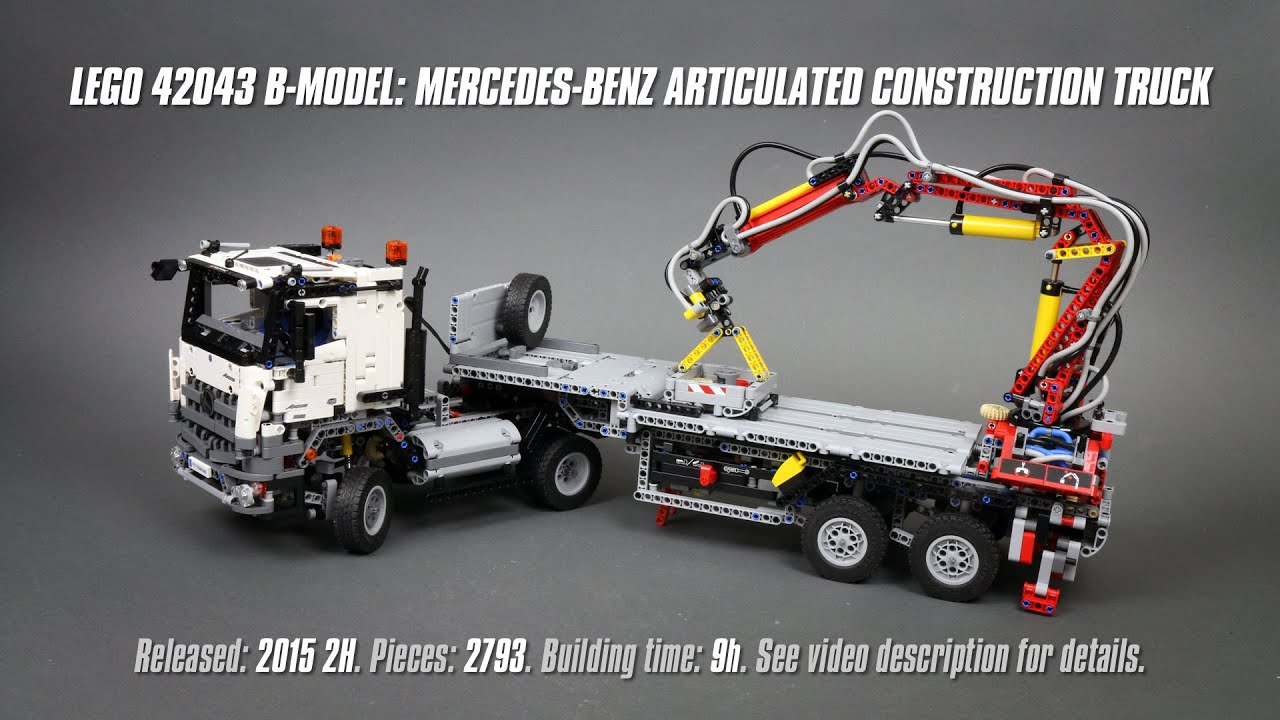 lego technic 42043 b-model: mercedes-benz articulated construction