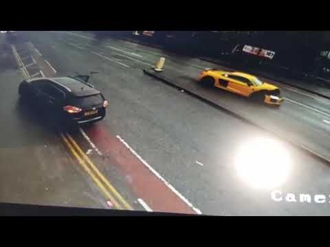 Bradford Yellow Audi R8 Crash