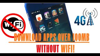 DOWNLOAD APPS OVER 100MB WITHOUT WIFI on iPhone using THREE UK 3G