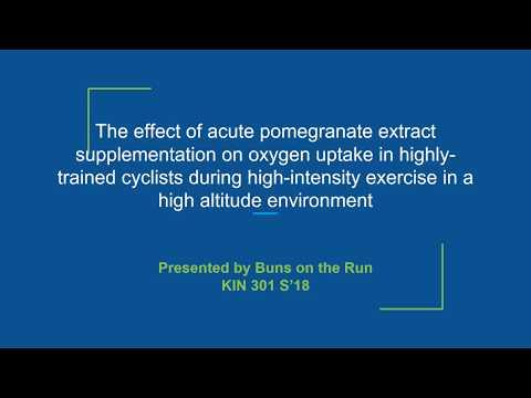 Pomegranate Extract as an Ergogenic Aid