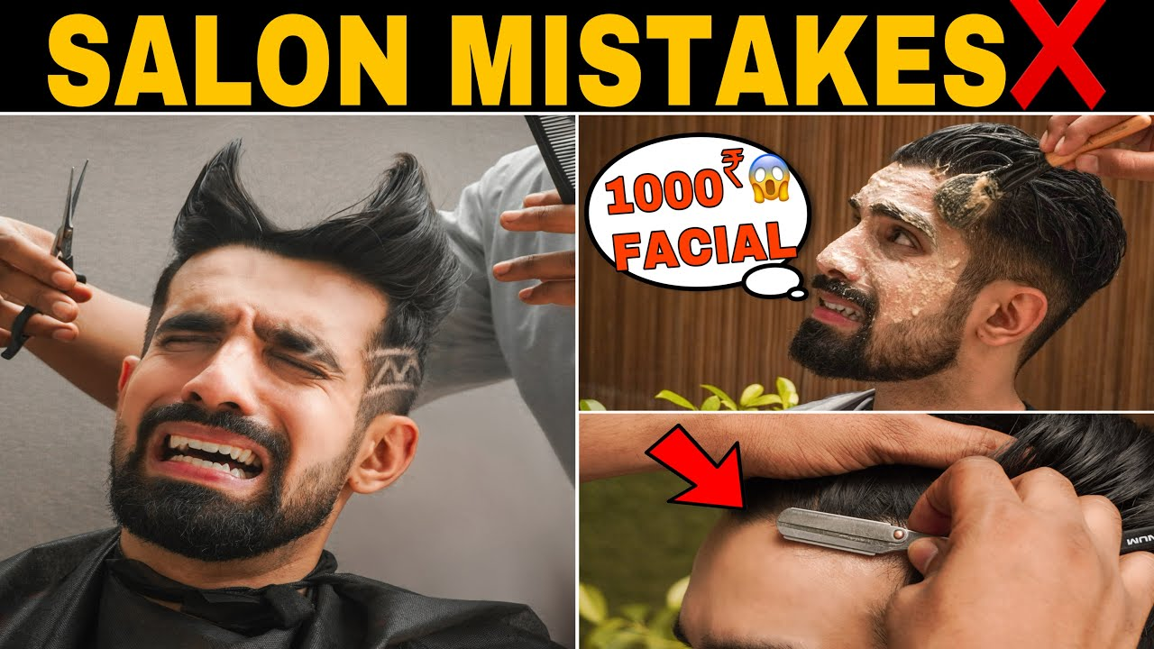 STOP❌these Salon Mistakes| Haircut Tips as per FACE SHAPE| How to Set beard |Mens Hairstyle | Hindi