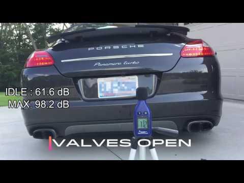 970 porsche panamera turbo pse exhaust sound clip youtube