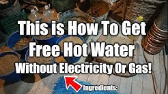 How To Make A DIY Rocket Mass Offgrid Hot Water Heater