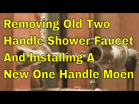 removing-old-two-handle-shower-faucet-and-installing-a-new-one-handle-moen