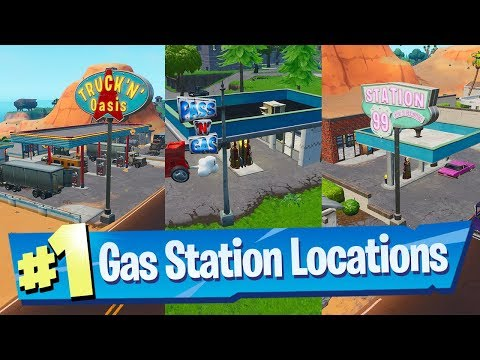 Spray different Gas Stations Locations - Fortnite (Spray & P