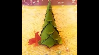 How To Make Origami Mini Christmas Tree