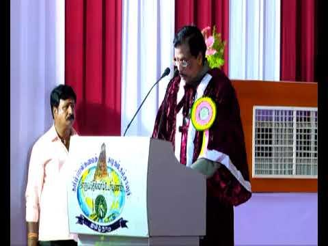 Dr. G. Bhaskaran speech on Tamil University Tenth Convocation