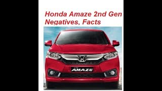 Honda Amaze 2nd Gen Facelift Negatives. Must Watch Facts