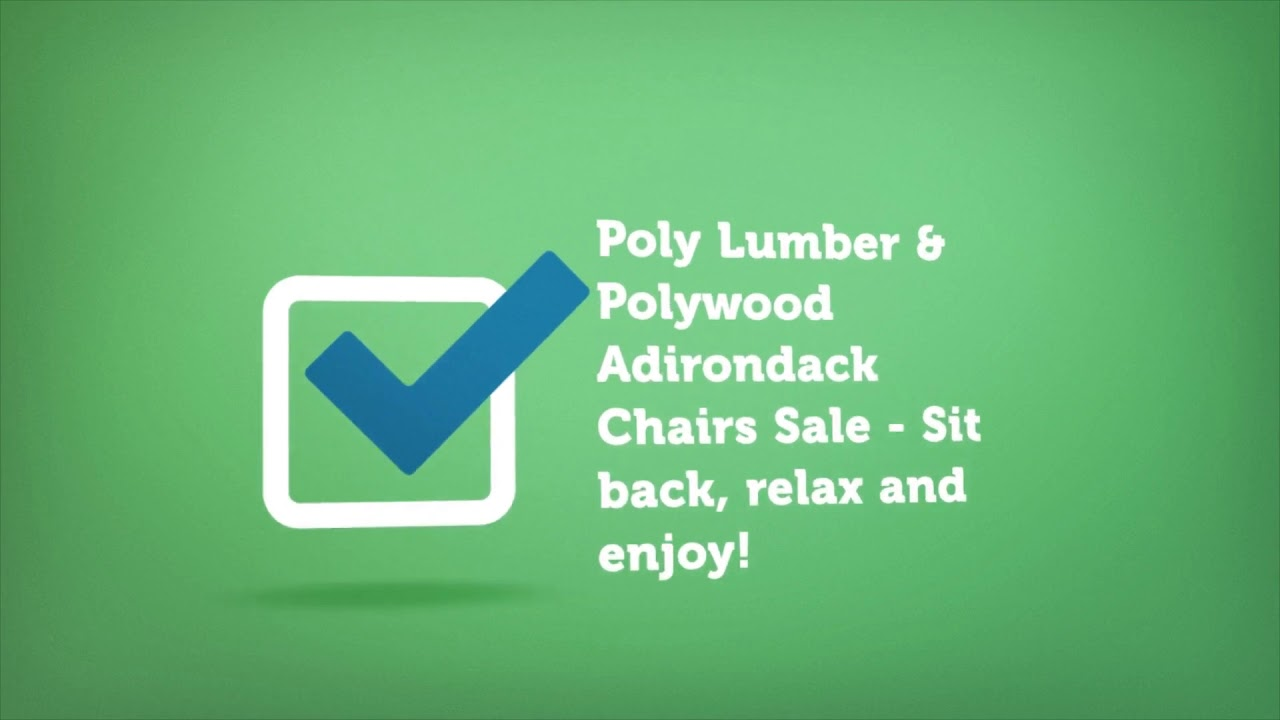 Polywood Adirondack Chairs Sale | Premium Poly Patios :  (877-904-1234)