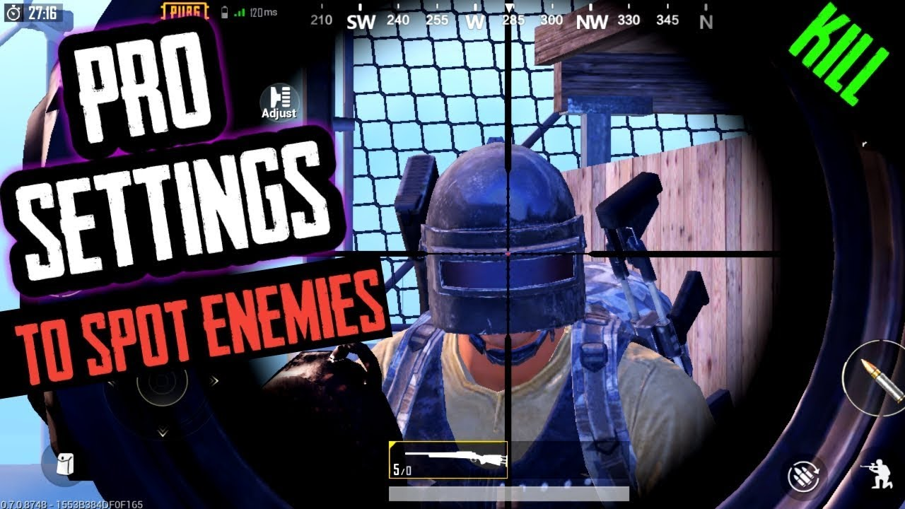 PUBG MOBILE:- Pro Settings To Spot And Kill Enemies Easily