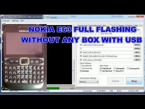 Nokia E64 Flash Without Any Box With USB