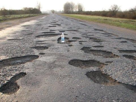 Жуткие  дороги Саратовской области.